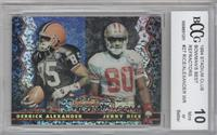 Derrick Alexander, Jerry Rice [BCCG Mint]
