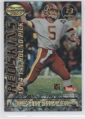 1995 Bowman's Best - Mirror Image Draft Picks - Refractor #3 - Heath Shuler, Steve McNair