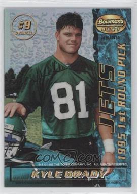 1995 Bowman's Best - Mirror Image Draft Picks - Refractor #9 - Antonio Langham, Kyle Brady