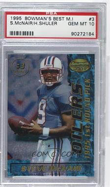1995 Bowman's Best - Mirror Image Draft Picks #3 - Heath Shuler, Steve McNair [PSA 10]