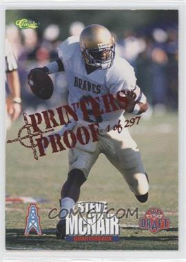 1995 Classic NFL Draft - [Base] - Printers Proof #65 - Steve McNair /297