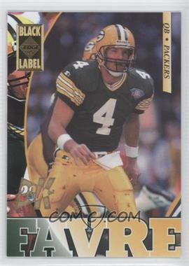 1995 Collector's Edge - [Base] - Black Label 22K Gold #71 - Brett Favre