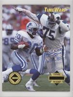 Deacon Jones, Barry Sanders (Deacon Jones Autograph) [EXtoNM] #/5,0…