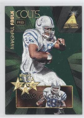 1995 Pinnacle Zenith - Rookie Roll Call #RC1 - Marshall Faulk /1200