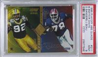 Bruce Smith, Junior Seau, Deion Sanders, Reggie White [PSA 9 MINT]