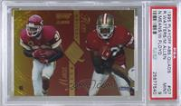 Marcus Allen, Ricky Watters, William Floyd, Natrone Means [PSA9MINT]