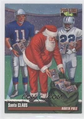 1995 Santa Claus - [Base] #SANTA 1 - Santa Claus, Drew Bledsoe, Emmitt Smith (Classic Pro Line)