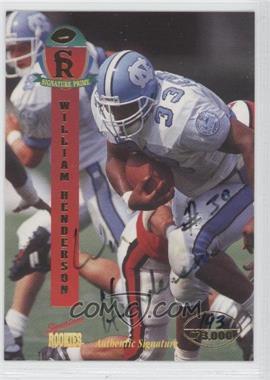 1995 Signature Rookies Prime - [Base] - Autographs [Autographed] #19 - William Henderson /3000