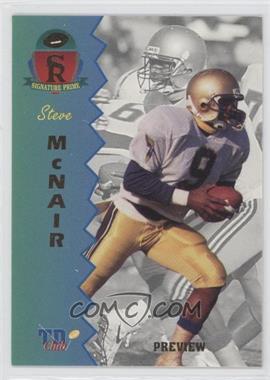 1995 Signature Rookies Prime - TD Club Previews #P-2 - Steve McNair
