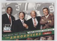 James Brown, Jimmy Johnson, Terry Bradshaw, Howie Long