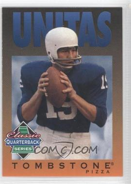 1995 Tombstone Pizza Classic Quarterback Series - [Base] #12 - Johnny Unitas
