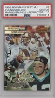 Kerry Collins, Steve Young, Dan Marino, Mark Brunell [PSA 10]