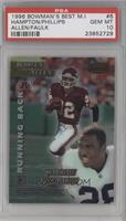 Rodney Hampton, Lawrence Phillips, Marcus Allen, Marshall Faulk [PSA 10&nb…