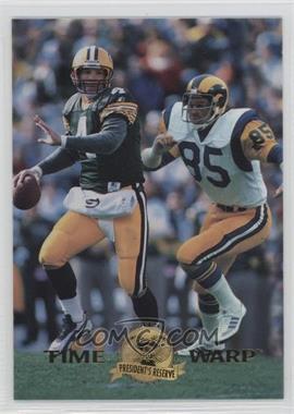 1996 Collector's Edge President's Reserve - Time Warp - CS #6 - Brett Favre, Jack Youngblood /500