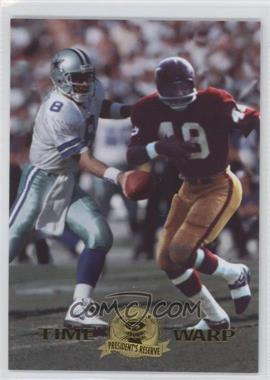 1996 Collector's Edge President's Reserve - Time Warp - CS #9 - Troy Aikman, Bobby Mitchell /500