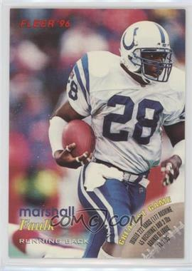 1996 Fleer Shell FACT - [Base] #78 - Marshall Faulk