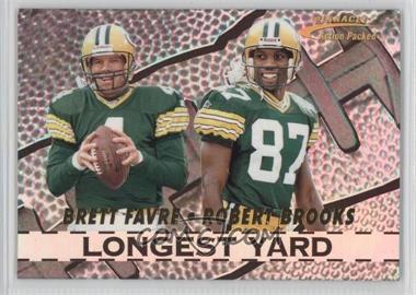 1996 Pinnacle Action Packed - Longest Yard #1 - Brett Favre, Robert Brooks