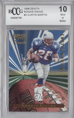 1996 Pinnacle Zenith - Rookie Rising #2 - Curtis Martin [ENCASED]