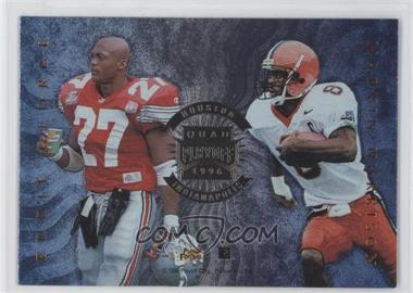 1996 Playoff Absolute - Quad Series #33 - Eddie Kennison, Eric Metcalf, Eddie George, Marvin Harrison