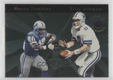 1996 Playoff Illusions - Optical Illusions #2 - Barry Sanders, Troy Aikman