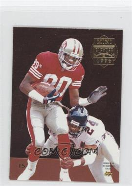 1996 Playoff Trophy Contenders - Mini Back-to-Backs #15 - Jerry Rice, Robert Brooks