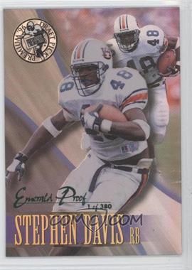 1996 Press Pass Premium - [Base] - Emerald Proof Holofoil #25 - Stephen Davis /380