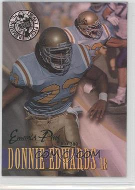 1996 Press Pass Premium - [Base] - Emerald Proof Holofoil #54 - Donnie Edwards /380