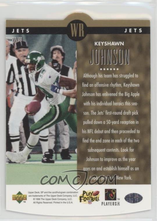 1996 SP - Holoview - Special F/X Die-Cut #27 - Keyshawn Johnson