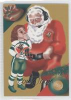 Santa, Brett Favre (Fleer)