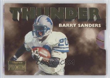 1996 Skybox Premium - Thunder & Lightning #2 - Barry Sanders, Scott Mitchell