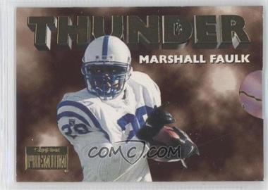 1996 Skybox Premium - Thunder & Lightning #3 - Marshall Faulk, Jim Harbaugh