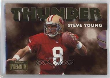 1996 Skybox Premium - Thunder & Lightning #5 - Steve Young, Jerry Rice