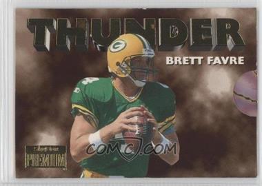 1996 Skybox Premium - Thunder & Lightning #7 - Brett Favre, Robert Brooks