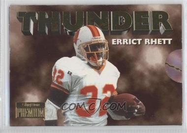 1996 Skybox Premium - Thunder & Lightning #9 - Errict Rhett, Trent Dilfer