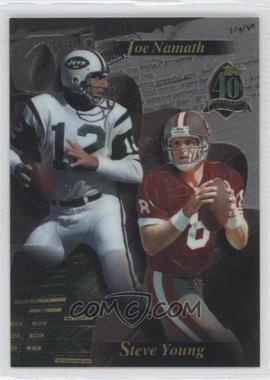 1996 Topps - [Base] #JNSY.1 - Joe Namath, Steve Young