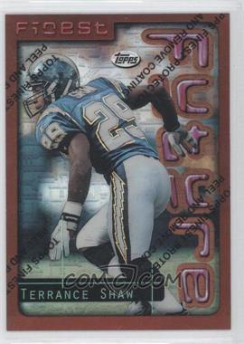 1996 Topps Finest - [Base] - Refractor #65 - Terrance Shaw