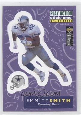 1996 Upper Deck Collector's Choice Update - Play Action Stick-Ums #S22 - Emmitt Smith