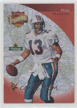 1997 Absolute Beginnings - [Base] - Gold Redemption #153 - Dan Marino