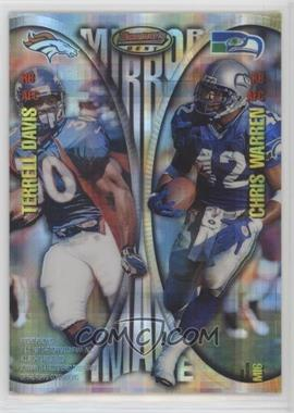 1997 Bowman's Best - Mirror Image - Atomic Refractor #MI6 - Ricky Watters, Jamal Anderson, Terrell Davis, Chris Warren