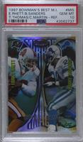 Errict Rhett, Barry Sanders, Thurman Thomas, Curtis Martin [PSA 10 GE…