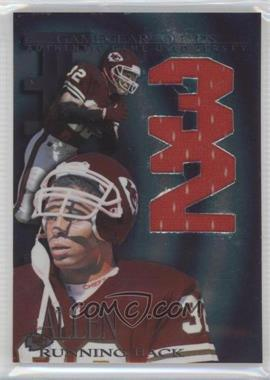 1997 Collector's Edge Extreme - Game Gear Quads Game-Used #1 - Marcus Allen