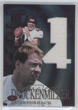 1997 Collector's Edge Extreme - Game Gear Quads Game-Used #8 - Jim Druckenmiller
