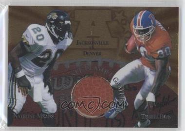 1997 Collector's Edge Masters - Gameball #5 - Natrone Means, Terrell Davis