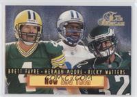 Brett Favre, Herman Moore, Ricky Watters