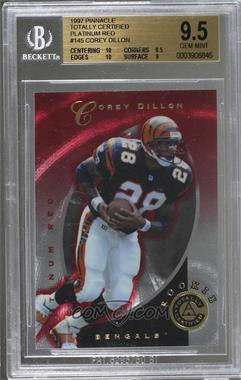 1997 Pinnacle Totally Certified - [Base] - Platinum Red #145 - Corey Dillon /4999 [BGS9.5GEMMINT]