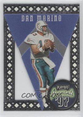 1997 Playoff Contenders - Pennants - Blue Felt #1 - Dan Marino