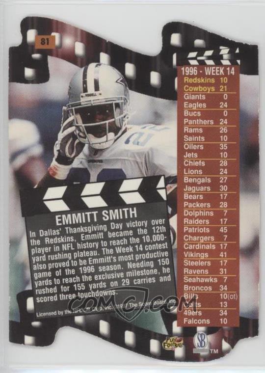 1997 Pro Line III DC - [Base] #81 - Emmitt Smith