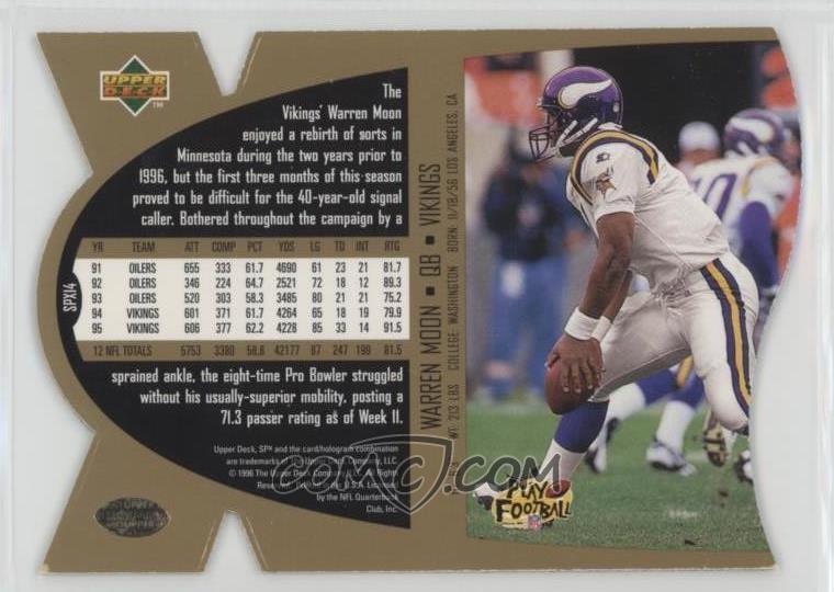 size 40 d4152 9d27a 1997 SPx - [Base] - Gold #SPX14 - Warren Moon