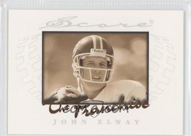 1997 Score - The Franchise #8 - John Elway