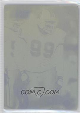 1997 Stadium Club - [Base] - Printing Plate Black #105 - Warren Sapp /1